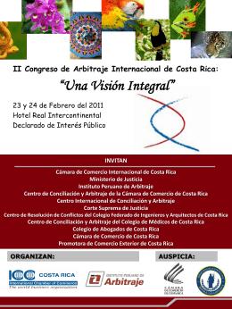II Congreso de Arbitraje Internacional de Costa Rica