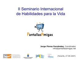 Presentación realizada por Jorge Flores Fernández