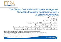 El modelo de atención al paciente crónico y la