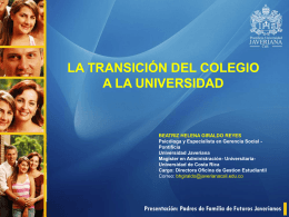 Diapositiva 1 - Pontificia Universidad Javeriana, Cali