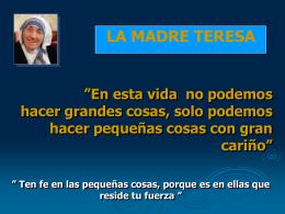24-La madre Teresa de Calcuta