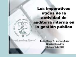 14 Ética Gubernamental - Oficina del Contralor General de Puerto