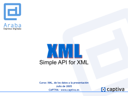Simple API for XML