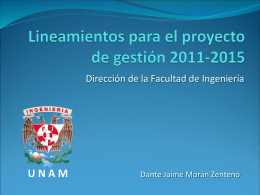 Lineamientos para el proyecto de gestión 2011