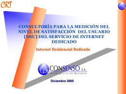 Informe NSU Internet, Residencial Dedicado