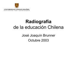 Radiografía de la educación Chilena