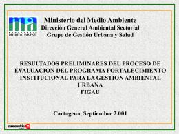 resultados preliminares del proceso de evaluacion del programa