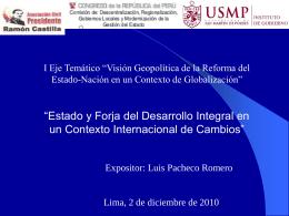 Estado y Forja de Desarrollo Integral Luis Pacheco
