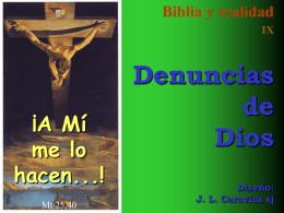 09 Denuncias de Dios