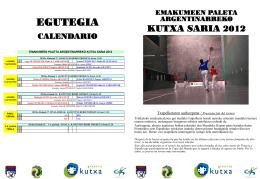 Diptiko III KUTXA SARIA TRINKETE 2012