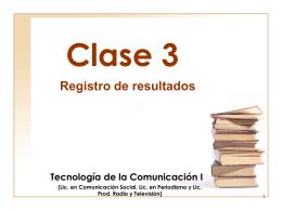 clase3 - Página de Tecnología de la Comunicación