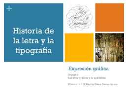Historia de la letra y la tipografía
