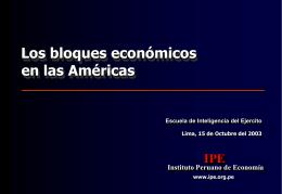 Los bloques económicos en las Américas