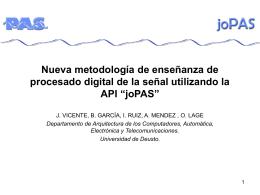 joPAS - jenui 2006 - Universidad de Deusto