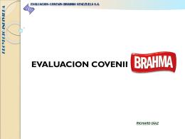 EVALUACION COVENIN BRAHMA - UNEXPO