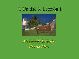 I. Unidad 3, Lección 1
