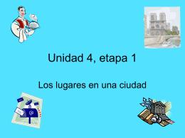 vocabulario - unidad 4 etapa 1