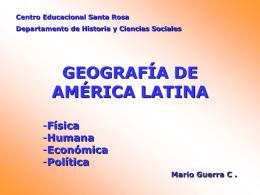 Geo Americca Latina - Colegio CE Santa Rosa