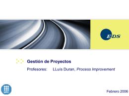 Gestión de Proyectos - Seminaris d`empresa 2015