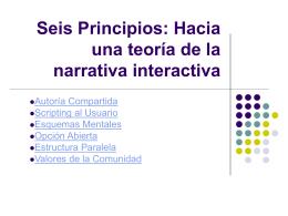 Seis Principios: Hacia una teoría de la narrativa interactiva