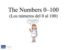 The numbers 0-100 - Gordon State College