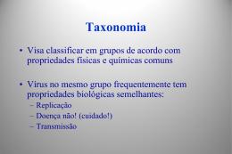 Aula 2 - Classificação de Vírus