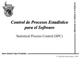 Control de procesos estadísticos para el software