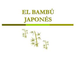 EL BAMBÚ JAPONÉS - Federación de Escuelas Particulares