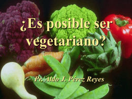 ¿Es posible ser vegetariano? - Unión Venezolana Occidental