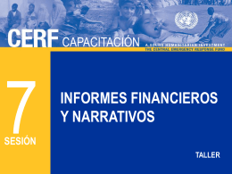 CERF 7 - Los informes narrativos y financieros S Jul2012
