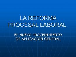 Aspectos generales del procedimiento laboral