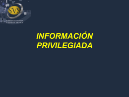información privilegiada - Superintendencia de Valores y Seguros