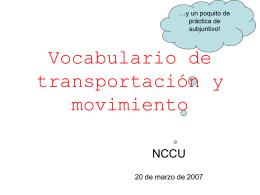 transportes y subjuntivo