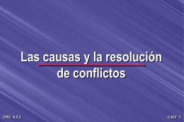 Las causas y la resolución de conflictos