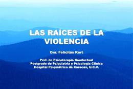 raíces de la violencia