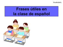 Frases útiles en la clase de español