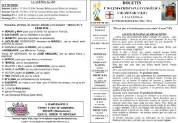 1 Septiembre 2013 - Iglesia Cristiana Evangélica de Colmenar Viejo