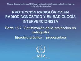 15. Optimización de la protección en radiografía: Parte 7