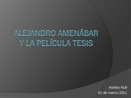 Alejandro AmenÁbar Y La Película Tesis