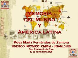 Présentation UNESCO - Archivo Nacional de Costa Rica