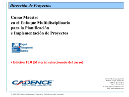 proyecto - Cadence Management Corporation