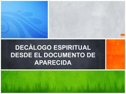 Decálogo espiritual desde el documento de aparecida