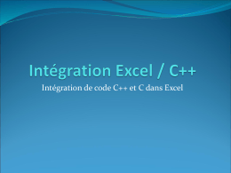 Intégration C++/Excel
