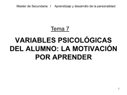 tema 7c 4PS-Variables psicologicas motivacion escolar