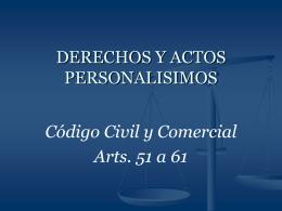 Derechos y actos personalísimos - Colegio de Escribanos de la