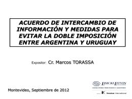 Dr. Marcos Torassa - Consejo Uruguayo para las Relaciones