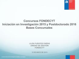 PPT. Bases Concursables Iniciación en Investigación 2015 y