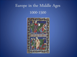 PowerPoint Chapter 10: High Middle Ages