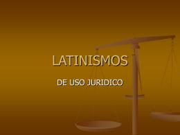 latinismos
