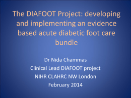 The DIAFOOT Project: developing and implementing an evidence